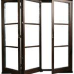 FS portāla sistēmas durvis - profilu iebūves dziļums 68, 78, 88, 92 mm, trīskārt līmēta koksne, videi draudzīgas, ūdensizturīgas krāsas