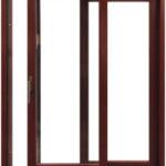 HST sistēmas durvis - alumīnija zemais slieksnis, trīskārt līmēta koksne, videi draudzīgas, ūdensizturīgas krāsas