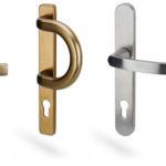 PVC durvju rokturu dizains nodrošina elegantu izskatu un funkcionalitāti